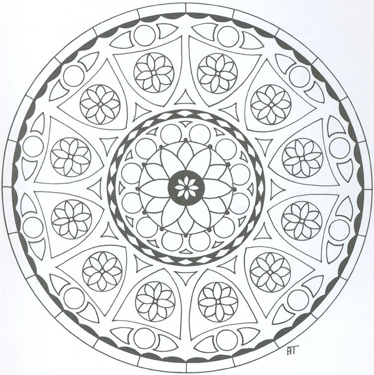 Black and White Peace Mandala