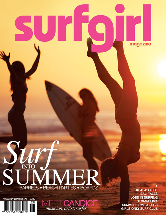 Surfgirl Magazine cover shot by Lucia Griggi